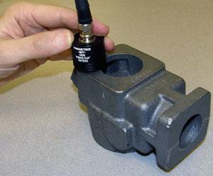 超声波探头检铸件